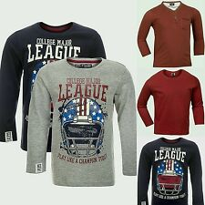 Boys Top 3 4 5 Years T Shirt Long Sleeves 2 PACK Navy Red Grey Holiday Summer