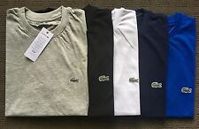 Lacoste Basic Crew-Neck Pima Tee Regular fit Tee Short Sleeve Croc Logo Appliqué