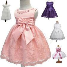 Infant Baby Christening Party Birthday Prom Occasion Wedding Flower Girls Dress