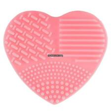 Heart Shape Silicone Makeup Brush Cleaner Washing Scrubber Cleaning Hand DKVP