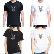 Men Women Chinese Yuan Sign O-Neck Short Sleeve Summer Top Tee T-Shirt Adroit