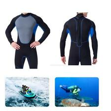 Men Wetsuit Full Body Stretch Zip Suit Diving Swim Surf SUP Snorkel Spearfishing