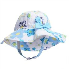 Toddler Baby Kids Girls Summer Cotton Infant Sun Cap Wide Brim Hat Sun Beach Hat