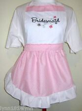 Customize Bridal Party Aprons Names Art & Text Great Cute Designs SO MANY MORE