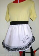 BRIDAL SHOWER MUST HAVE PERSONALISED 1/2 APRONS WITH LACE OVER TRIM LOOK FANTAS.