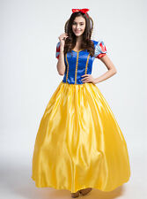 Ladies Adult Fairytale Snow White Costume Storybook Princess Fancy Dress Outfit