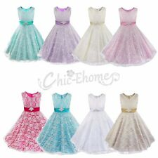 Lace Flower Girl Dress Wedding Communion Party Prom Princess Pageant Bridesmaid