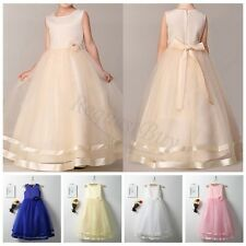 2017 Baby Girl Birthday Wedding Party Flower Girls Dress baby Pageant dresses
