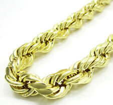 3.5MM 14K Yellow SOLID Gold Diamond Cut Heavy Rope Chain Necklace 18-24 Inches