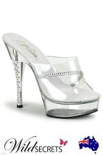 NEW Pleaser Diamond  5 1/2  inch Heel Stiletto, Platform, Womens Sexy Shoe