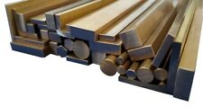 Brass Stock Metal Round, Square, Flat Bar, Rod, Hex & Angle 50mm to 600mm long