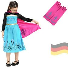 Elsa Dress Coronation Turquoise Ice Princess Costume Frozen Shawl black new