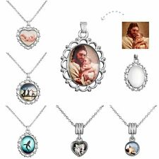 Fashion Dad Baby Friendship Photo Pendant Necklace Chain Jewelry Silver Tone New