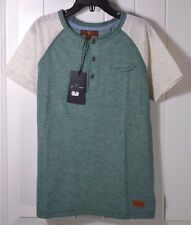 NWT BOYS KIDS YOUTH FOR ALL MANKIND GREEN HENLEY SHORT SLEEVE T SHIRT SZ S XL