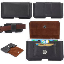 Leather Carrying Pouch Belt Holster Card Slot Case Cover For iPhone / iPod Touch