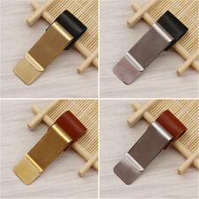 Metal Pen Holder with PU Leather Loop Clip for Travelers Book Notebook Luxury HQ