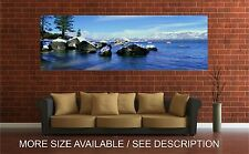 Wall Art Canvas Print Picture Lake Tahoe in Wintertime Panoramic View-Unframed