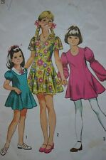 SIMPLICITY 9796 GIRLS PRINCESS SEAM FLARED DRESS PATTERN SIZE 7 OR 12