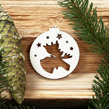 baumkugeln with Christmas Themes - Tree Ornaments, Trunk - Deco Wooden -NEW