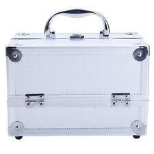 Aluminum Makeup Train Case makeup bag Jewelry Box Cosmetic Organizer with Mirror