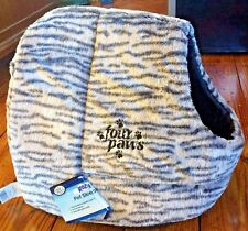 Four Paws Kozy Pet Sleeper Cat Bed Animal Print NEW Plush Giraffe Zebra Cave