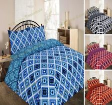 Modern Duvet Cover Bed Set With Pillow Cases Single Double King Super King THEO