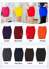 Women's Slim Seamless Stretch Mini Skirt Short Fitted Candy Color Tight Dress