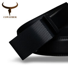 MENS BELT HIGH QUALITY GENUINE LEATHER BELTS MEN AUTOMATIC BUCKLE FASHION WAIST