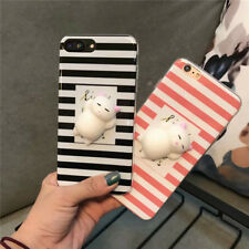 For iPhone 6 6s 7 Plus 3D Rabbit Cute Soft Shockproof Phone Case Cover Stripe