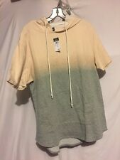 NWT Rue 21 Carbon Dip Dye Heathered Men's  Short Sleeve Hoodie Size L - XXL