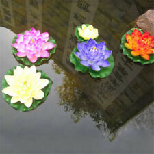Artificial Fake Lotus Water lily Floating Flower Garden Pool Pond Plant Decor JS