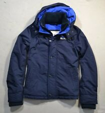 NWT MEN'S HOLLISTER BLACK ZIP UP WINDBREAKER HOODIE FLEECE JACKET COAT SIZE M