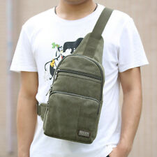 Men's Hiking Canvas Sling Messenger Shoulder Bag Chest Military Travel Backpack