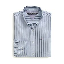 New Tommy Hilfiger Mens Custom Fit Longsleeve Button Shirt Blue Stripe NWT