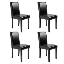Set of 2/4/6/8/10 pcs Black/Brown Leather Elegant Design Dining Chairs Home