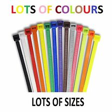 Cable Ties - Black, Natural, Red, Yellow, Blue, Green, Brown White LOTS OF SIZES