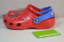 NWT YOUTH KIDS CROCS MARVEL SPIDERMAN CLOGS SLIP ON RUBBER SHOES SZ J2