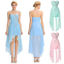 Homecoming Party Cocktail Evening Prom High Low Ball Gown Bridesmaid Short Dress