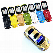 "NEWMIND F15 Flip Phone With Dual SIM Camera LED Light 1.8"" Luxury Car Cell phone"