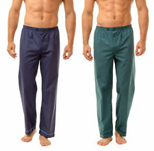 Haigman Men's Easy Care Long Pyjama Bottoms Twin Pack Nightwear