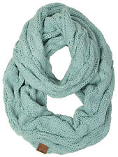 Funky Junque's C.C Ribbed Winter Warm Cable Knit Infinity Scarf