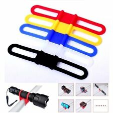 5x Cycling Bike Bicycle Silicone Elastic Strap Bandage light lamp Mount Holder