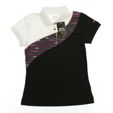 Slazenger 1611 Athletic Womens Neon Short Sleeve Printed Golf Polo Black Pink