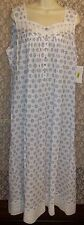 NWT S M EILEEN WEST NIGHTGOWN COTTON LAWN LONG SLEEVELESS NEW GOWN BALLET