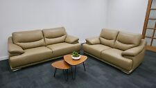Sofa Suite,Lounge, Couch Italian Leather 3 seater + 2 seater - 2 Colours