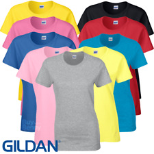 Gildan LADIES T-SHIRT TOP HEAVY COTTON SEMI FITTED SUMMER BASIC TEE S-2XL OFFER