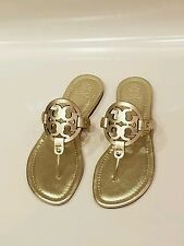 Tory burch miller spark gold leather sandal nib