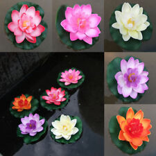 1x Fake Lotus Artificial Yard Pond Water Lily Float Flower Plant Decor