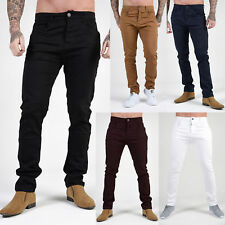 Mens AD Slim Skinny Stretch Chinos Relaxed Comfort Smart Designer Pants Jeans