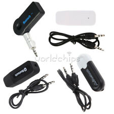 Black/White 3.5mm Bluetooth AUX Audio Stereo Music Home Car Receiver Adapter 3.0